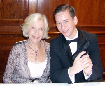 Honor Blackman with Ciaran Brown