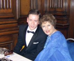 Eunice Gayson with Ciaran Brown
