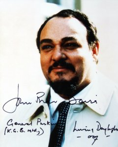 Signed photo of John Rhys-Davies as General Pushkin in 'The Living Daylights'