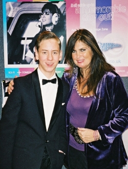 Caroline Munro with Ciaran Brown