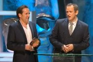 Ben Miller and Alexander Armstrong receive their BAFTA for 'The Armstrong & Miller Show'