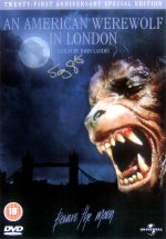 Signed DVD cover for 'An American Werewolf in London'