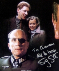 Signed DVD cover of 'The Eagle Has Landed'