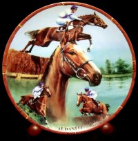 The Aldaniti plate from Melvyn Buckley's 'Great Racehorses' series for Danbury Mint