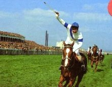 Bob Champion and Aldaniti win the 1981 Grand National