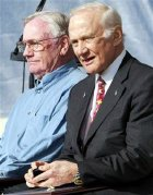 Neil Armstrong & Buzz Aldrin in 2005