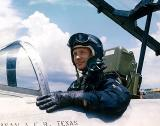 Buzz Aldrin in US jet fighter