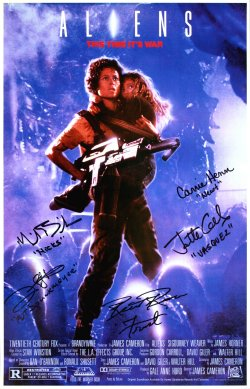 'Aliens' masterprint signed by Michael Biehn