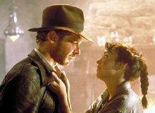 Karen Allen and Harrison Ford in Raiders of the Lost Ark