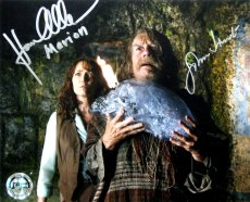 Karen Allen & John Hurt have both signed this still from 'Raiders of the Lost Ark'