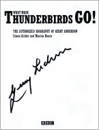 Signed title page of Gerry Anderson's biography