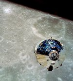 Apollo 10 Command Module 'Charlie Brown' as seen from the Lunar Module 'Snoopy'
