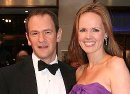 Alexander Armstrong with his wife Hannah