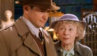 Alexander Armstrong as DI Craddock with Geraldine McEwan in 'Marple: A Murder is Announced'