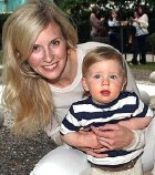 Alison Balsom with her son Charlie