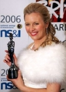 Alison Balsom with her Classical BRIT award in 2006
