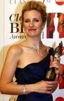 Alison Balsom with her Classical BRIT award in 2011