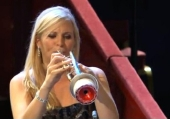 Alison Balsom in performance at the Royal Albert Hall