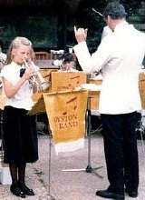 Alison Balsom playing a solo with the Royston Town Band