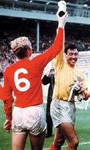 Gordon Banks & Bobby Moore with the Jules Rimet trophy