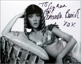 Amanda Barrie signed photo from 'Carry On Cleo'