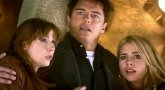 John Barrowman with Billie Piper and Catherine Tate in 'Doctor Who'