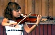 Nicola Benedetti aged eight