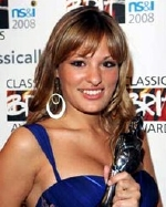 Nicola Benedetti in May 2008, with her Classical BRIT Award
