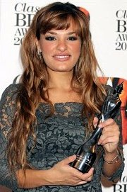 Nicola Benedetti in 2012, with her Classical BRIT Award for 'Best Female Artist'