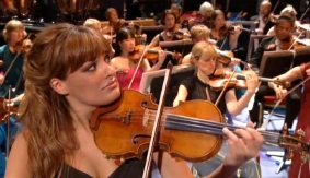 Nicola Benedetti playing the Gariel Stradivarius violin at the Last Night of the Proms (September 2012)
