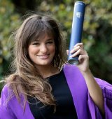 Nicola Benedetti with her honorary Doctor of Letters degree from Heriot-Watt University