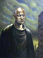 Portrait of Steven Berkoff by Peter Howson