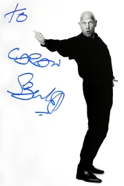 Stephen Berkoff signed photograph