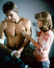 Michael Beihn & Linda Hamilton in 'The Terminator' (1984)