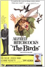 Film poster for Alfred Hitchcock's 'The Birds'