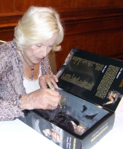 Honor Blackman signing Sideshow model