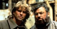 Richard Dean Anderson & Brian Blessed in 'MacGyvor: Lost Treasure of Atlantis'