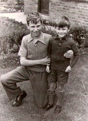 Brian Blessed aged 11 with his younger brother, Alan