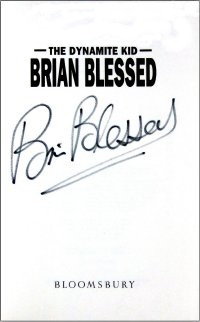 Brian Blessed signed his autobiography 'The Dynamite Kid'