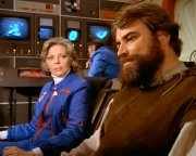 Brian Blessed as Dr Cabot Rowland in 'Space:1999'