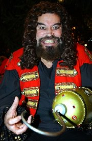 Brian Blessed as Captain Hook in the pantomime 'Peter Pan'