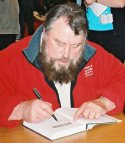 Brian Blessed signing 'The Dynamite Kid'