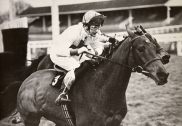 Bob Champion on the Josh Gifford trained Kybo at Ascot in 1980