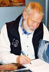 Chris Bonington signing his book 'Everest'