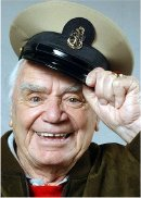 Ernest Borgnine (with his Chief Petty Officer's cap) in October 2004