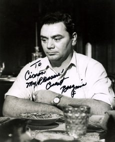 Signed photo of Ernest Borgnine in 'Marty'