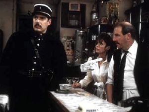 Arthur Bostrom as Officer Crabtree, with Vicki Michelle & Gorden Kaye