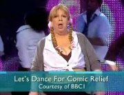 Jo Brand as Britney Spears in the final of 'Let's Dance for Comic Relief'