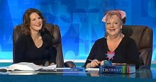 Susie Dent & Jo Brand in the 'Dictionary Corner' of 'Countdown'