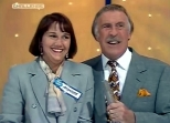 Bruce Forsyth with a contestant in 'Bruce's Price is Right' in 1995